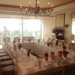The Bay Room set for the Wedding Breakfast.