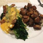 Egg's Benedict and Bacon and Spinach
