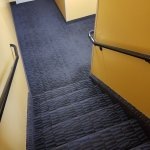 clean and carpeted stairwells
