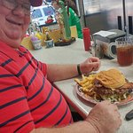 Large Bacon Cheeseburger, WOW!!! Lean fresh ground beef, not frozen, for sure!!!