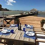 Beach eating area