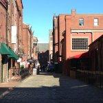Cobblestone Street In Old Port, Portland, Maine