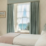 Poldhu Sea View ensuite room, made as twin