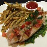 Garlic furikake fries and adobo-style pork belly