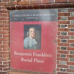 Photo of Benjamin Franklin's Grave