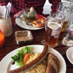 Delicious wursts & bier!