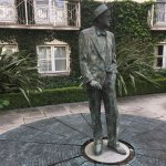 James Joyce statute in the courtyard