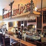 Bar area, with a sense of Italian decor.