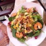 Fresh Pear Salad w/Grilled Jumbo Shrimp