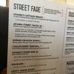 Street fare menu