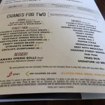 Chang for Two menu