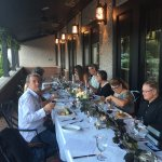 Bistro Wine Dinner on our Patio
