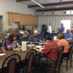 We have a activity room we have a Pot Luck every 3 saturday of the month of the camping season