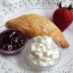 Yummy Scone With Clotted Cream And Jam - Wenham Tea House, Wenham, MA
