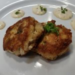 Blue Crab Cakes - Fried Blue Crab Meat, Homemade Tartar Sauce