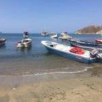 Puerto de Taganga, donde se toman las lanchas hacia otras playas