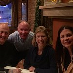 Dining with good friends (pic taken in front of the fireplace at Gemelli!