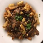 Shaved Steak Poutine from room service - large (27 South Restaurant) Delicious!!