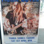 Fiona Boyes Blues guitarist playing at The Tavern last saturday!!