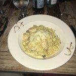 Seafood pasta was GOOD!