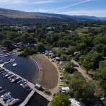 Arial view of Wood Lake RV Park & Marina