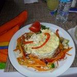 Sea Bass, Crab, Shrimp pasta special. Yummy!