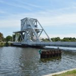 Pegasus Bridge-what we were there to see viewed from the restaurant.