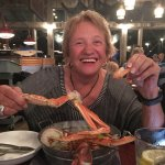 Aunt Shirley living it up at The Crazy Crab!