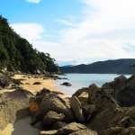 Adelle Island Beach, accessible by boat from Kaiteriteri Beach