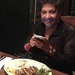 Prabha  clicking her French Sardines.