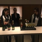 Tasting the champagne at Moët & Chandon.
