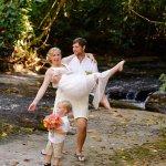 Romantic waterfall wedding at the Waterfall Villas
