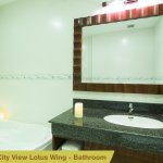 The bathroom of Deluxe City view in Lotus wing