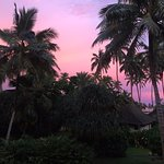Sunset at Naviti, outside our room.