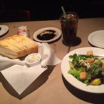 House salad and bread with sun dried tomato butter. Yum!!
