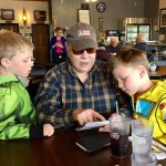Grandma and the boys plan their Two Harbors visit