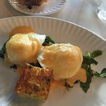 Fried Green tomatoes Eggs Benedict