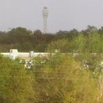 Telephoto of airport control tower from 509