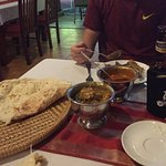 Huge naan and generous portions