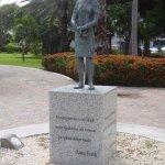 Anne Frank statue in Wilhelmina Park