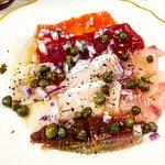 Sicilian style sashimi