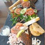Huge portion of seafood platter, 1 hot chocolate and 1 soda only £19.80!