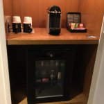 Mini-bar and your very own compact coffee maker.