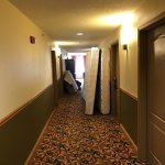 Another view of a hallway in the hotel