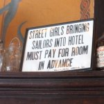 You won't find signs like this in modern hotels