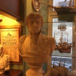 A bust of Lord Nelson at reception in the hotel