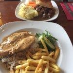Cajun chicken and steak pie