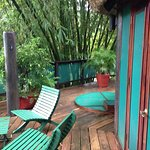 deck outside the treetop suites, fantastic