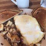 Western egg white omelette with homefries!