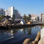 高松駅前 クロダイの泳ぐ海水池